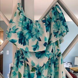 Windsor Blue Floral Romper
